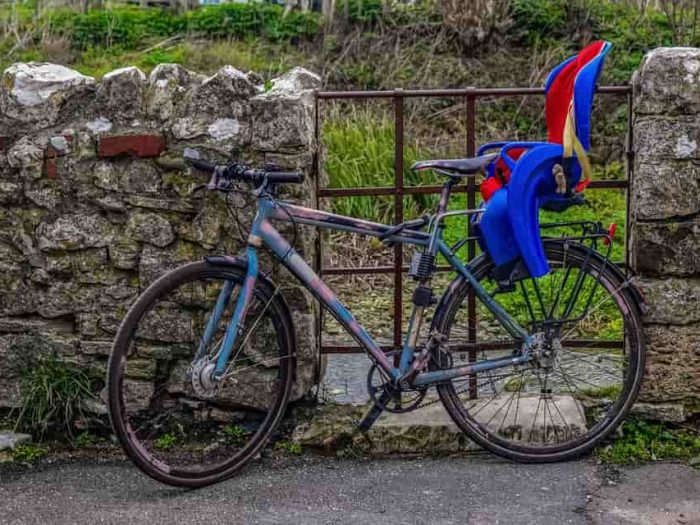 gyerekülés biciklire